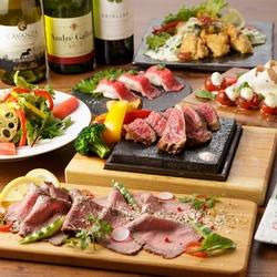 塩熟成リブロースの溶岩焼き&特選牛の肉寿司を堪能!29houseオリジナル肉バルメニューも堪能できるプラン