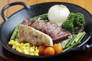 上質な赤身を思う存分味わえる『黒毛和牛サーロインステーキ』