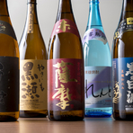 種類豊富な九州産の焼酎、ラインナップが充実