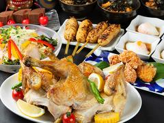 当店定番人気メニュー『香鶏のつくね串』などを集めた全7品のコースです。2時間の飲み放題付!