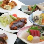 ■おすすめ料理 は30種類以上の中からメイン料理を選ぶお膳料理