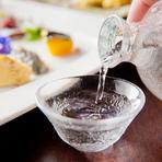 日本酒、焼酎など、日本全国の銘酒を揃えています