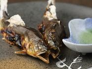 岐阜県下の名鮎を炭火で丁寧に仕上げた『天然鮎 塩焼き』