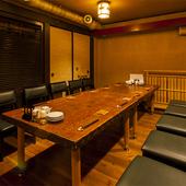 パーティーや宴会に。使い勝手抜群の個室も充実です