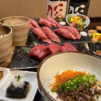 [2.5H飲放]もち豚しゃぶと和牛レアステーキコース 全7品5,000円