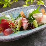 季節鮮魚三種盛り