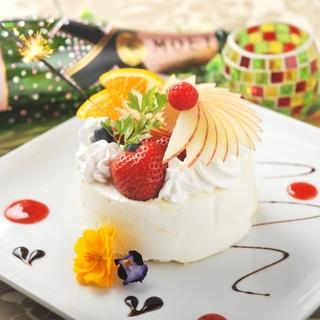 お誕生日月⇒ホールケーキ贈呈!