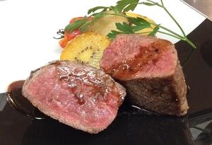 黒毛和牛モモ肉のアラグリッリア 赤ワインソース