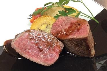黒毛和牛ランプ肉の炭火焼