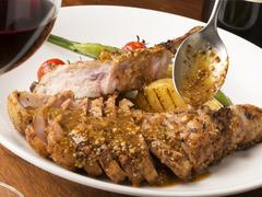 デザートがメッセージプレートに! 築地直送の鮮魚料理もしくは、ボリューム満点のお肉料理が選べるコース