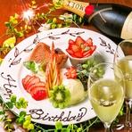 大切な日を【銀座ZION】で。誕生日、結婚祝い、歓送迎など お客様の「伝えたい」をプレート1枚に表現、お気軽にご注文ください。