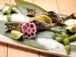 季節に一度は楽しみたい旬の味覚『鮎塩焼』