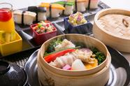 彩り野菜寿司とセイロ蒸し