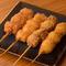塩、タレ2種類の味を選べる『串カツ』は種類も豊富!