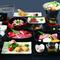A5クラスの近江牛を、「焼きしゃぶ」「ステーキ」「ローストタタキ」の3通りで味わえる『太郎坊御膳』