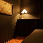 個室も完備しているので接待・会食といったシーンでの使い方も!