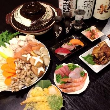 うらら厳選!!海鮮鍋Aコース(冬季限定)