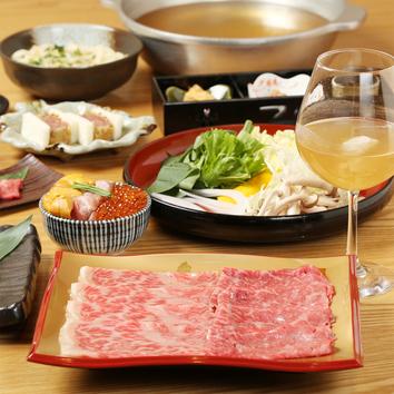 松阪豚の鍋会席『椿~つばき~』7品2時間飲み放題付