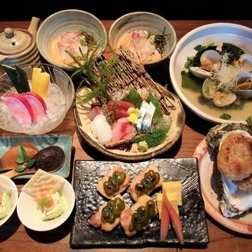 春のがらりスタンダード4000円コース(料理のみ)