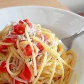 安芸産しらすとフレッシュトマトのスパゲッティ