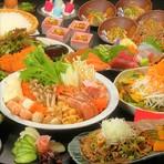 ◆3H飲み放題×料理11品『なごみコース』4500円 / ◆3H飲み放題×料理11品『ほっこりコース』5500円