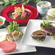 仙台牛をはじめ、新鮮魚介など高級食材を目の前の鉄板にて熟練の調理人が美味しく焼き上げます。 特別な日に最適の空間をご提供いたします。