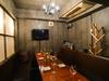 シャンデリアが光り輝く完全個室!フードは本格イタリアンテイストの創作料理です!