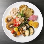 こだわり新鮮野菜をシンプルに『焼き野菜盛り合わせ』
