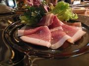 イタリア産の肉を長期熟成した、世界3大ハムの1つです