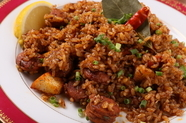 スペインのパエリアにルーツをもつアメリカ生まれのケイジャン料理『ジャンバラヤ』