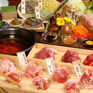 お肉もこだわりの樽前湧水豚。 道産豚に合わせた地酒とともにどうぞ。