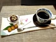 珈琲または紅茶と本日のお茶菓子のセット