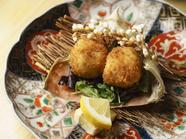 カニの旨みを和食の技で引き立てた『渡り蟹クリームコロッケ』
