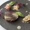 ブルグールを添えてサバ寿司をイメージした『鯖とナスのゼリー寄せ』
