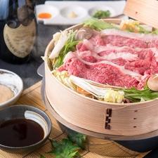 【最高級、雪降り和牛しゃぶしゃぶコース】お肉本来の旨味と柔らかさを堪能