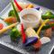 契約農家から直送の新鮮野菜を使用『季節野菜のバーニャカウダ』