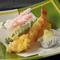 油のキレも素晴らしく心地良い食感を楽しめる「天ぷら」