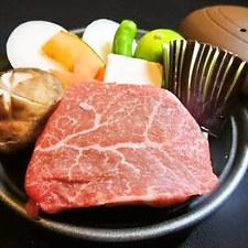 黒毛和牛の陶板焼き
