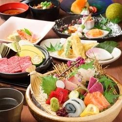 旬の素材をふんだんに使用したお料理をお楽しみ下さい 2.5h飲み放題付、セパレートでのご提供となります