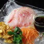 広東料理の定番メニュー『中華風鯛のお刺身サラダ』