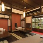 綺麗な日本庭園を眺めながら、日本酒を嗜む至福の時間