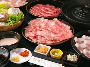 好みで肉の種類が選べる『しゃぶしゃぶコース』