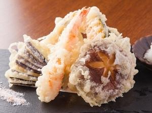 山陰の自然の恵みをいただく『天ぷら盛り合わせ』