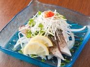 濃厚な旨味を堪能、日本海の『さばの炙りたたき』