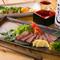 お酒と共に楽しみたい広島牛のステーキや炙り