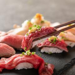 メディアで話題の肉寿司が食べ比べ!その他花雪特選のお肉料理で夏にぴったりの肉三昧をご堪能ください!