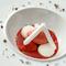 『オーガニックイチゴのスープ仕立て、ブラマンジェとヨーグルト風味のメレンゲと共に』