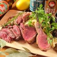 肉バLemmeの人気看板商品、肉コンボ4点盛り合わせ