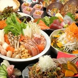 <1日3組様限定コース>鶏のたたきや三元豚の柚子塩ハリハリ鍋など! リーズナブルが嬉しいコースです!!