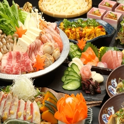 選べる鍋がメイン!! 鶏ちゃんこ鍋orチーズダッカルビ! 絶品料理を満喫!